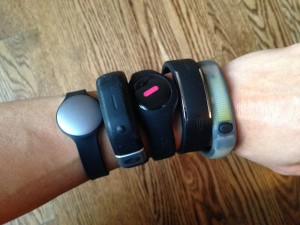 a wrist full of wearables...